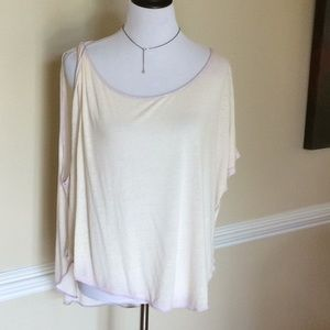 Free People one knotted shoulder top in lilac